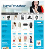 Template Toko Online Boxy Blue