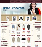Template Toko Online Cheerful Brown