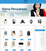 Template Toko Online Essential Blue