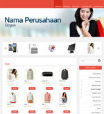Template Toko Online Essential Red