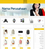 Template Toko Online Essential Yellow