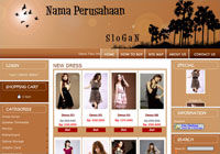 Template Toko Online Rainbow Brown