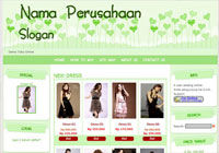 Template Toko Online Candy Green