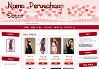 Template Toko Online Candy Red