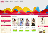 Template Toko Online Bubble Pink