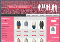 Template Toko Online Boxy Pink
