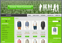 Template Toko Online Boxy Green