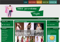 Template Toko Online Cheerful Green