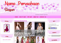 Template Toko Online Candy Pink