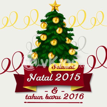 Contoh Baliho Ucapan Natal - desain spanduk kreatif
