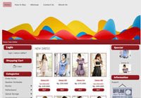 Template Toko Online Bubble Red